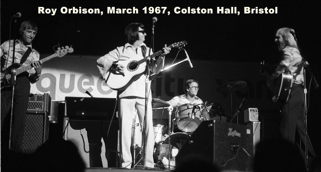 Roy Orbison performing in Bristol.