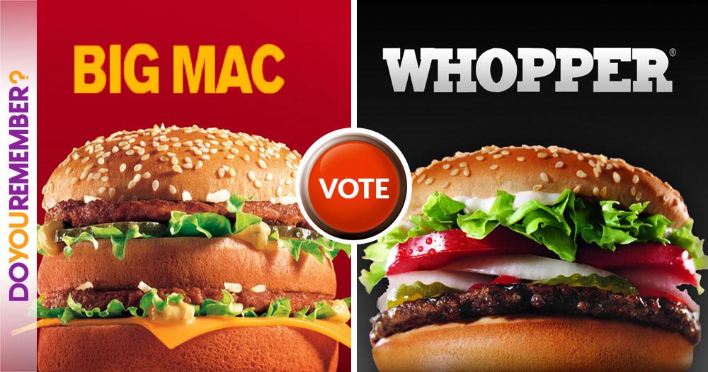 Big Mac or Whopper?