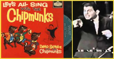 """David Seville and the Chipmunks and their popular song, """"Witch Doctor""""."""