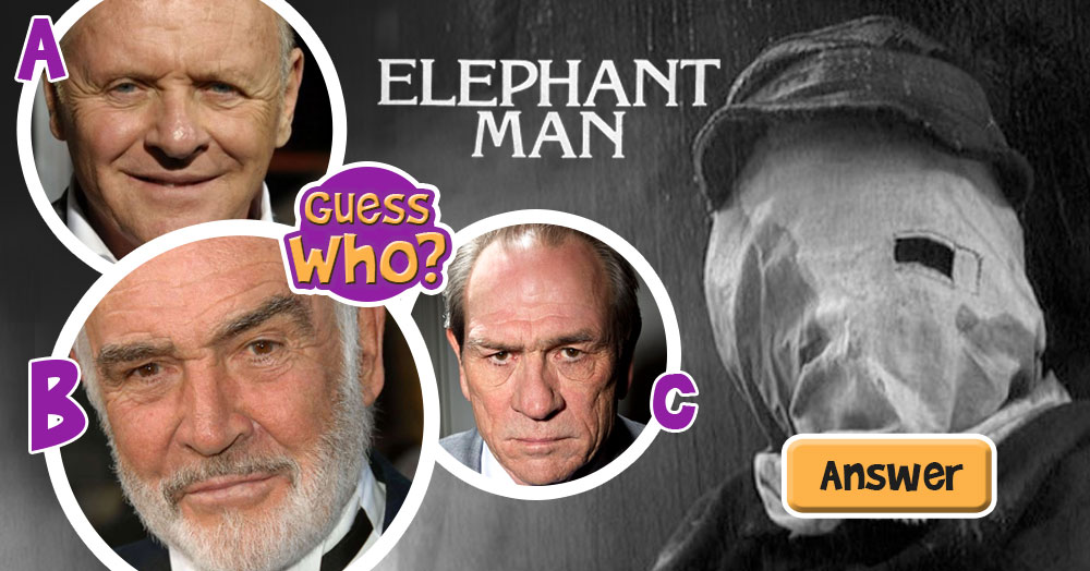 "Guess Which One of These Actors Starred in The Hit Movie ""The Elephant Man""?"