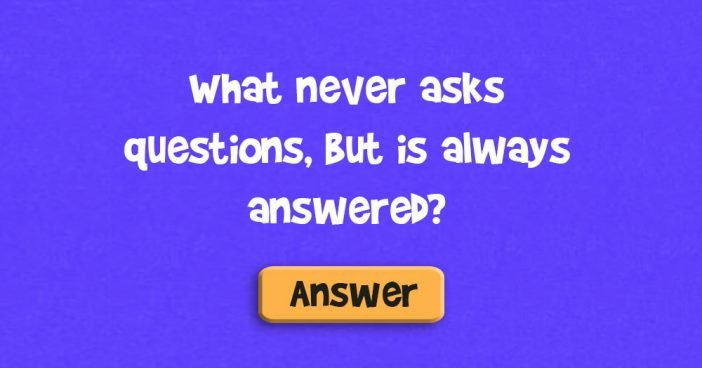 What never asks questions