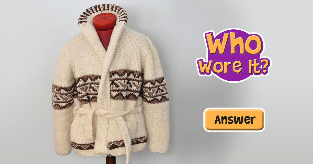 Guess Which Dude Wore this Cozy Sweater?