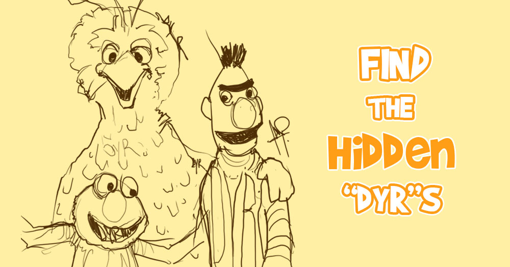 """Can You Find All the """"DYR""""s on this Sesame Street Sketch?"""