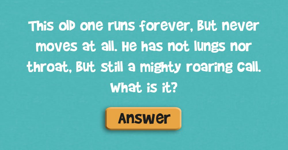 Do You Remember the Answer to this Classic Riddle?