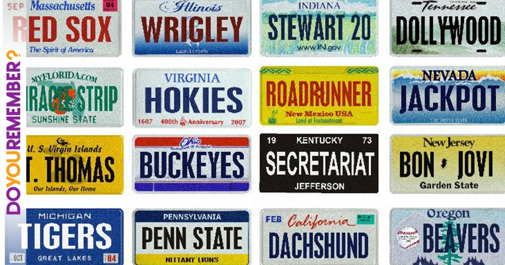Fifty Years of License Plates from 50 States | Do You Remember?