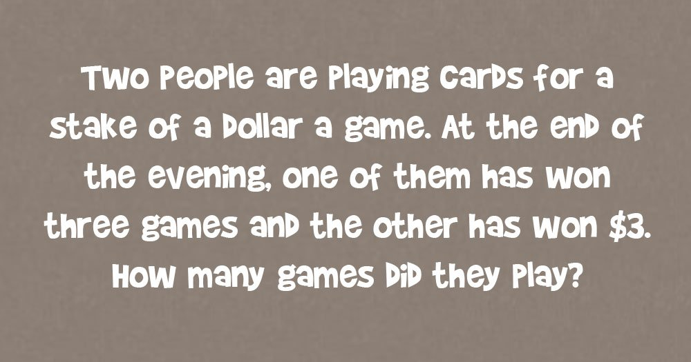 Do You Know the Answer to this Classic Card Game Brain Teaser?