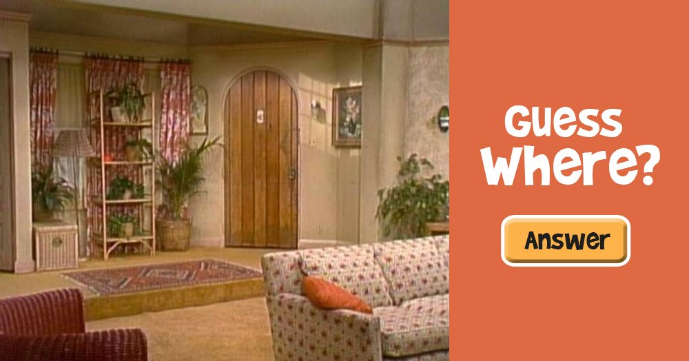 Guess What Famous Sitcom Featured This Living Room?
