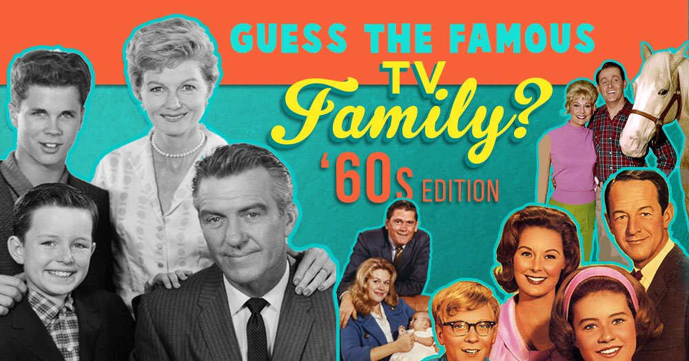 Guess The Famous TV Family '60s Edition