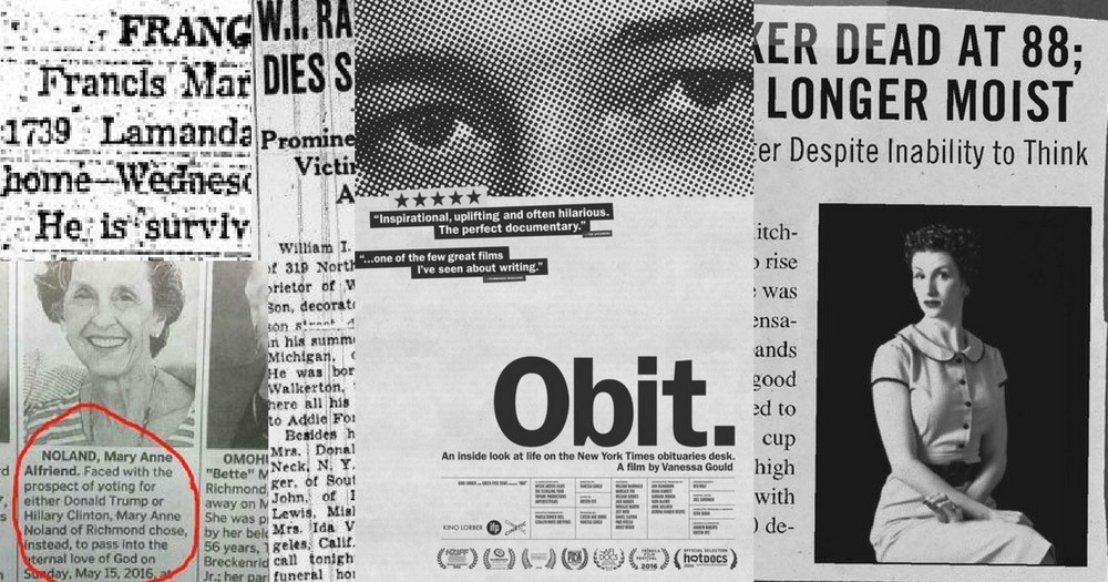 """OBIT"": How Can One Chronicle A Whole Life Into 500 Words?"