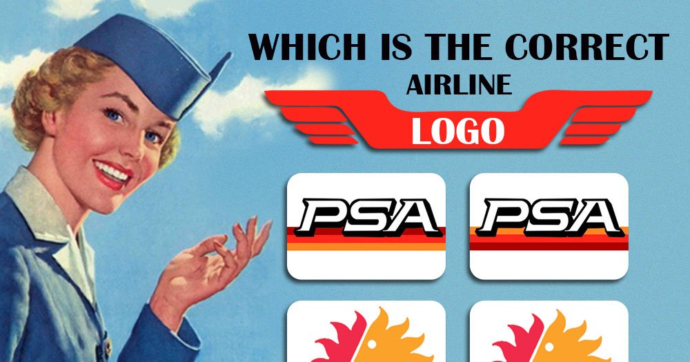 Which One Is The Correct Defunct Airline Logo?