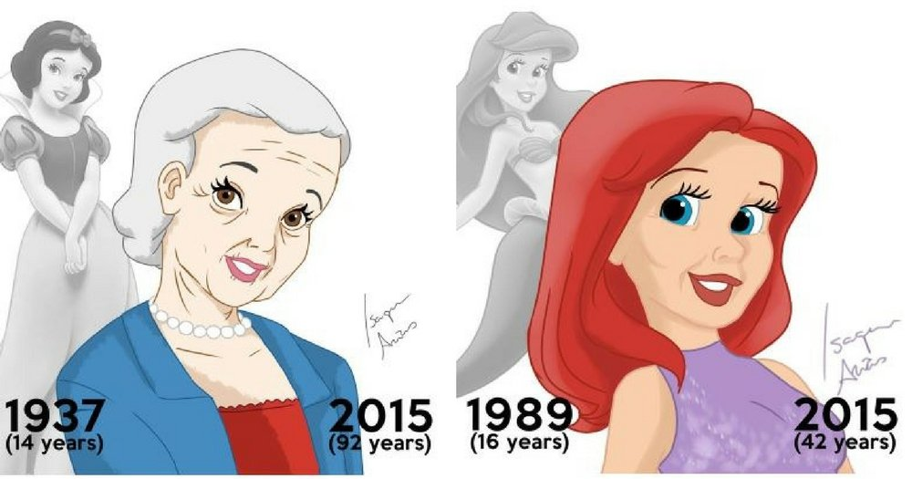 Disney Princesses Then And Now