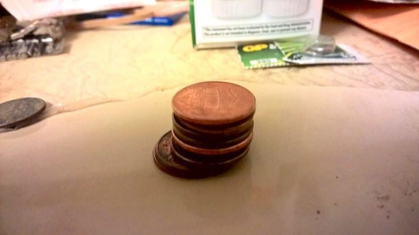 stack of rare pennies