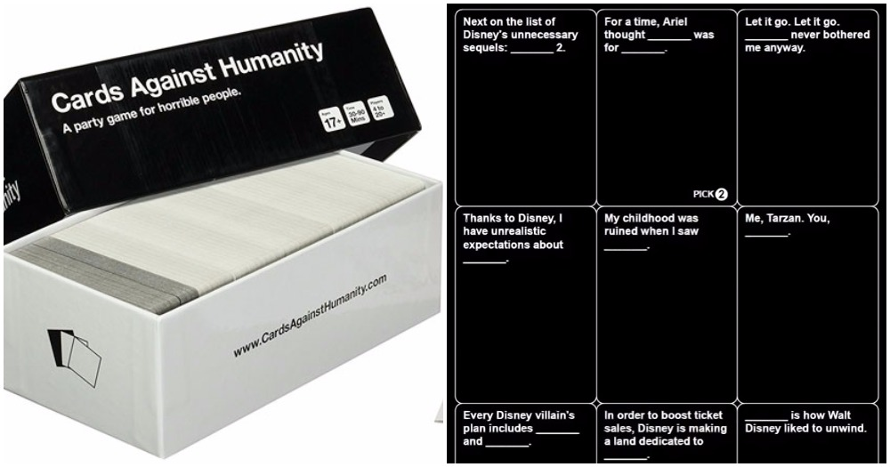 disney 39 cards against humanity 39 are about to be released and omg do you remember. Black Bedroom Furniture Sets. Home Design Ideas