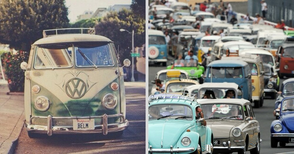 Treffen 2017: Vintage Volkswagen Parade Driving From Canada To Mexico
