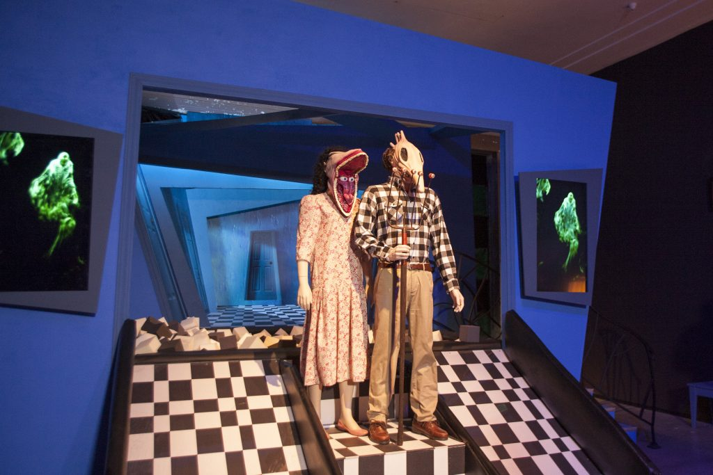 Beetlejuice Quotes Lead - installation Special Preview of 'I Like Scary Movies' an Interactive Art Installation by Maximillian at The Desmond on April 02, 2019