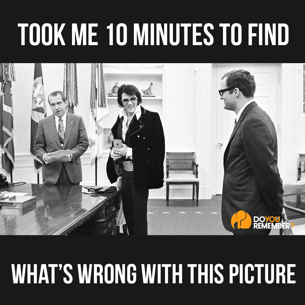 What's Wrong with this Elvis and President Nixon Picture?