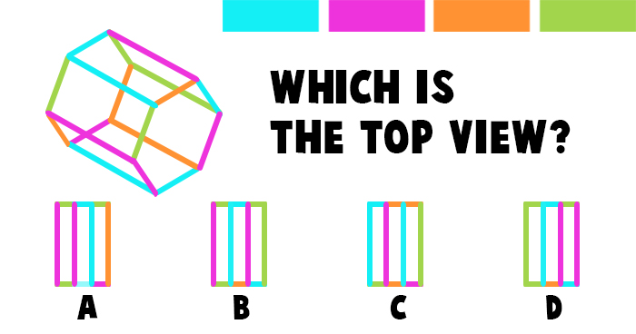 Which is the Correct Top View of this Hexagon Prism?