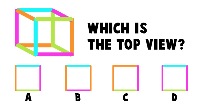 Which is the Correct Top View of this Square?