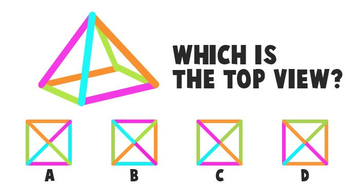 Which is the Correct Top View of this Triangle?