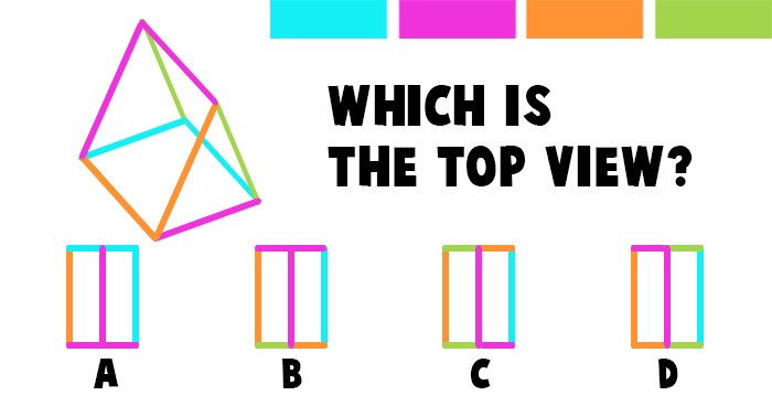 Which is the Correct Top View of this Triangular Shape?