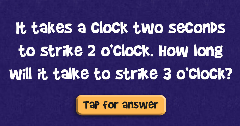 How Long Does it Take a Clock to Strike 3 O'Clock?