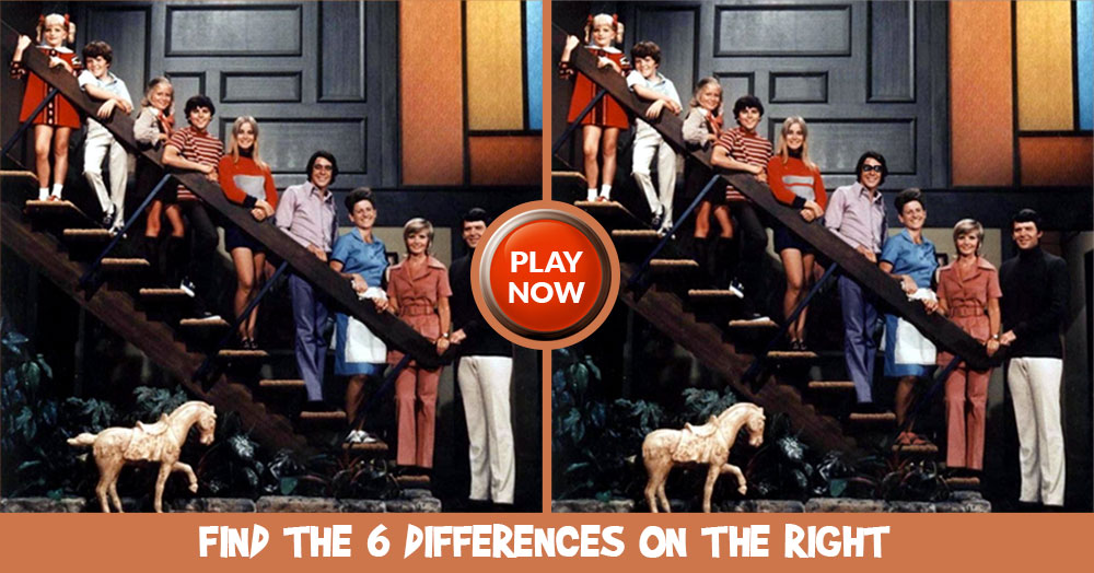 Can You Find all 6 Differences Between these Brady Bunch Images?