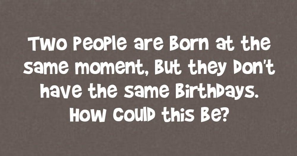Different Birthdays Riddle