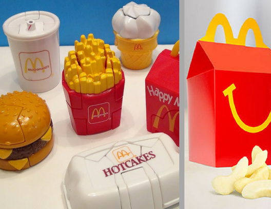 hopefully you saved some of your old happy meal toys you won t