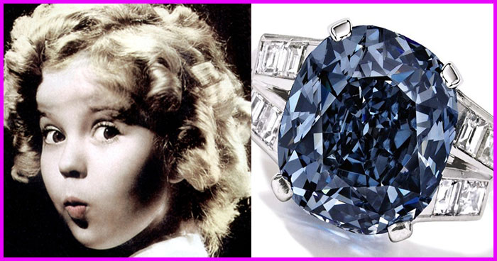 Shirley Temple's Famous Blue Diamond Auctioned For $22,000,000 And Didn't Sell!