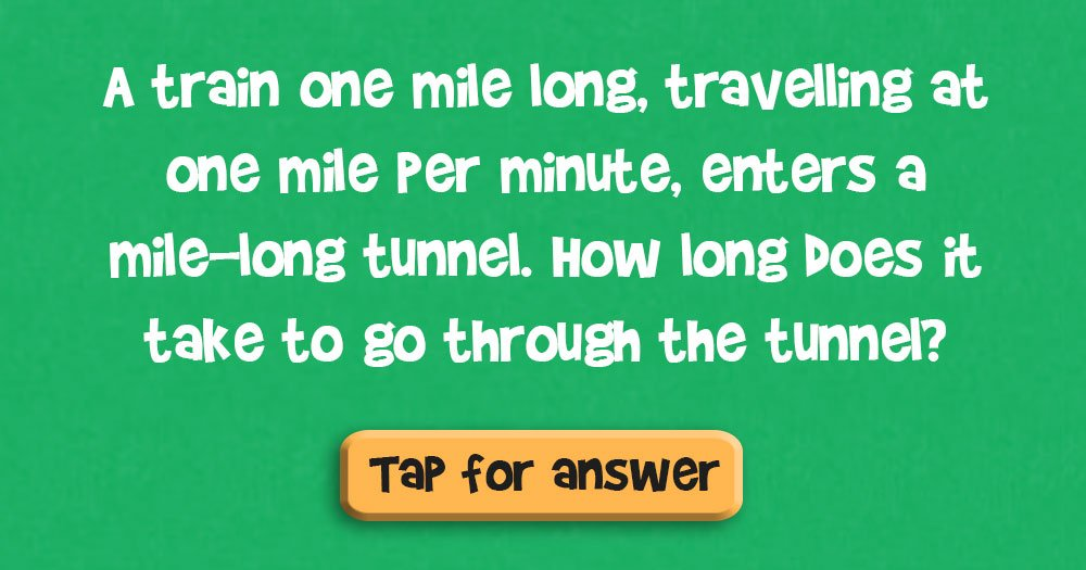 How Long Will it Take the Train to Go Through the Tunnel?
