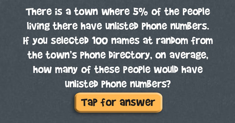 Unlisted Phone Number Riddles