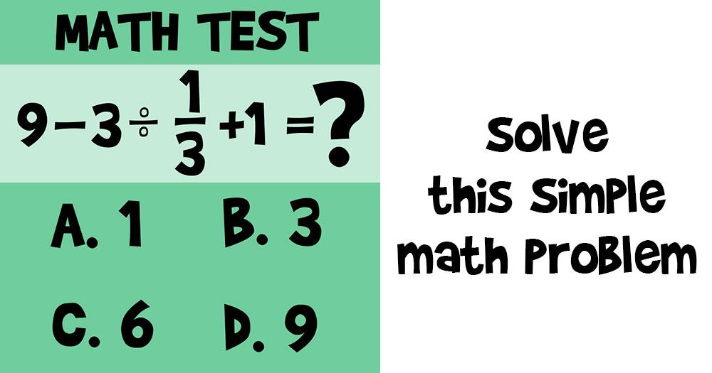 solve this math problem