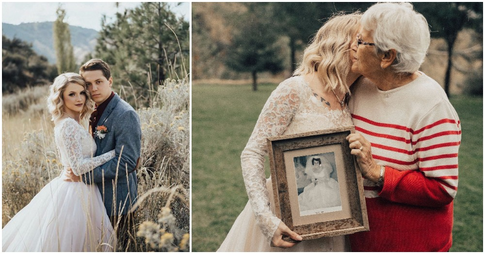 Bride Surprises Grandmother with Wedding Dress She Wore in 1962 And Her Reaction Is Too Cute