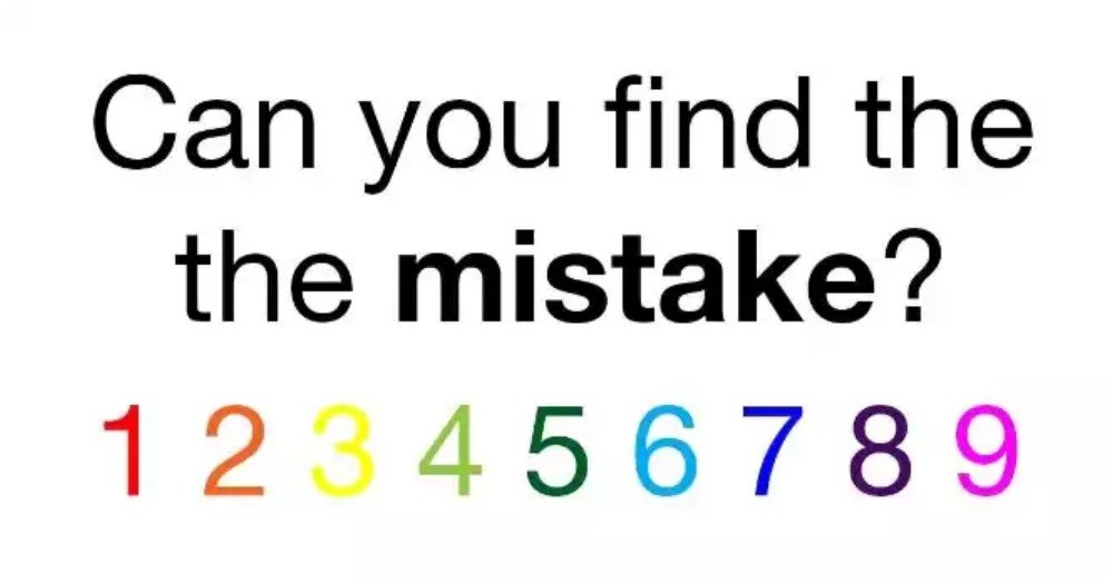 This Puzzle Asks You To Find The Mistake – But How Quickly Can You Spot It?