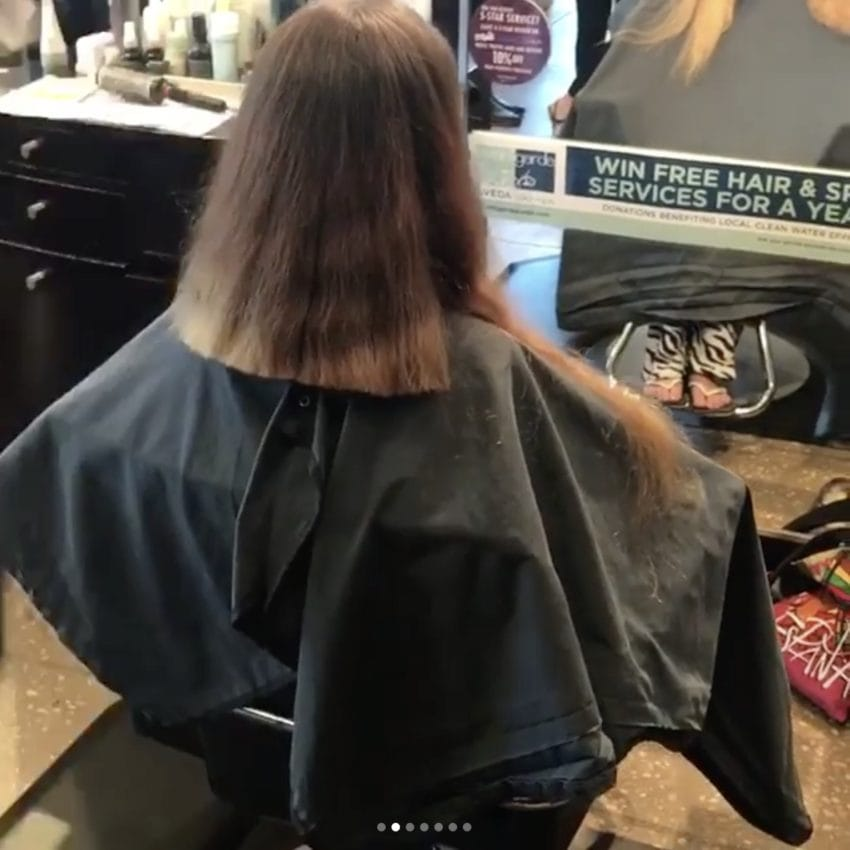 after 30 years bridetobe chops off her hiplength hair
