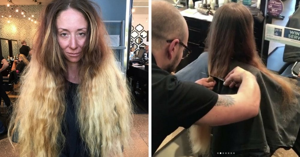 Bride-To-Be Hasn't Cut Her Hip-Length Hair In Almost 30 Years, So Stylist Totally Transforms Her For Wedding