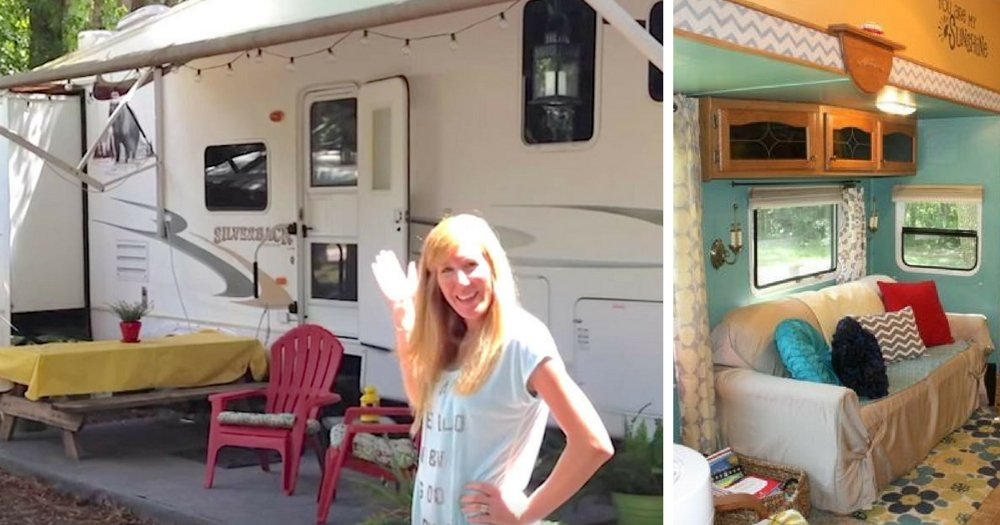 Family of 6 live together in a 300 square foot rv and wait for Rv square footage