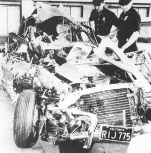 1966 wreckage of Jan Berry's Sting Ray Corvette Car