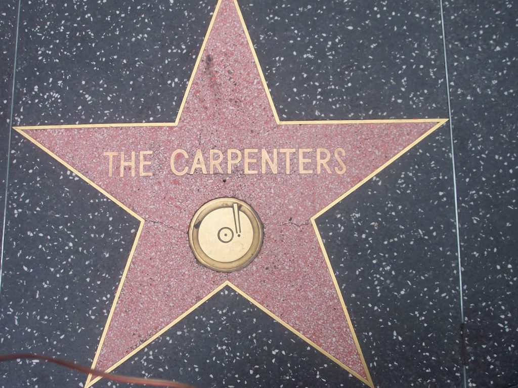 The Carpenters star on the Hollywood Walk of Fame.