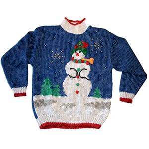 Rock a snowman mock turtleneck