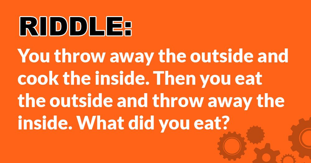 Riddle: What Did You Eat?