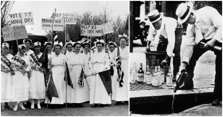 a history of the prohibition of alcohol in the united states Prohibition was all but sealed by the time the united states entered world war i in 1917, but the conflict served as one of the last nails in the coffin of legalized alcohol.