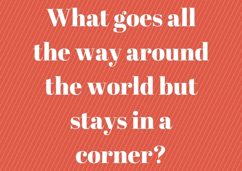 around the world corner riddle