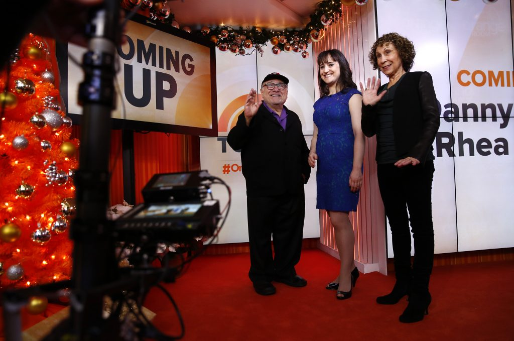 "Danny Devito, Mara Wilson, and Rhea Perlman appear on NBC News' ""Today"""