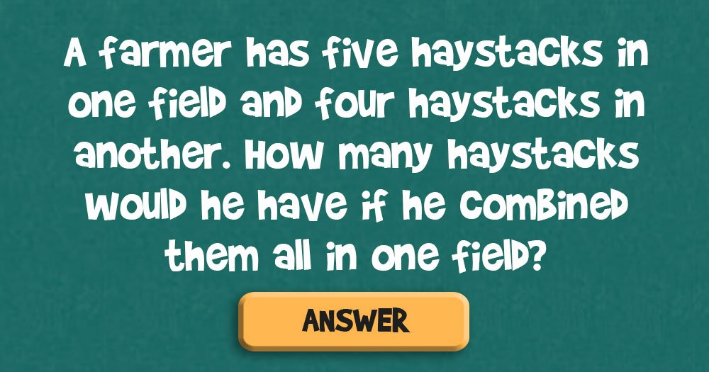 How Many Haystacks Does the Farmer Have?