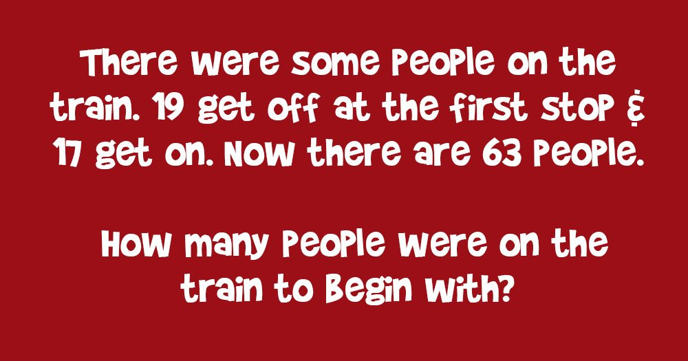 Math Problem: How Many People Were on the Train to Begin with?