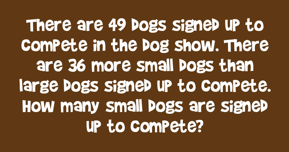 How Many Small Dogs are Signed up to Compete?