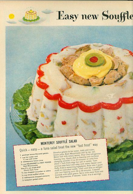 grandparents ate monterey souffle salad