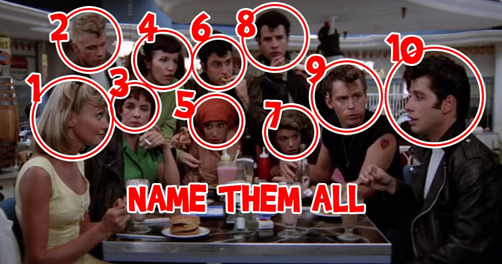 Name All 10 Main Characters from Grease