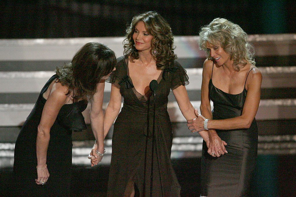photo of original Charlies Angels cast at Emmys in 2006